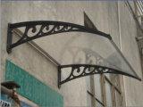 Decorative Clear Plastic Prefab Window Blinds/Shutters Canopy