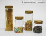 Stock Glass Food Storage Jar with Metal Lid