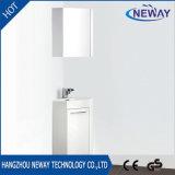 New PVC Floor Corner White Bathroom Vanity with Mirror