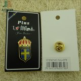 Soft Enamel Finished Sweden Lapel Pin with Backing Card