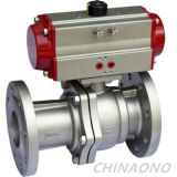 Pneumatic Actuator Stainless Steel Flange Type Ball Valve