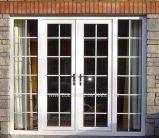 Security Lockable Double Glass French Aluminium Doors