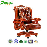 Swivel Executive Leather Office Chair with Solid Wood Foot (FY1303)