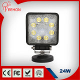 Factory Supply Square 24W LED Work Lights for Truck (TH-W0124E-F)