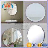 Large Round Flat Edge Window Furniture Decoration Float Glass Mirror
