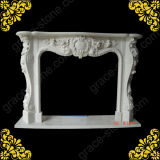 Stone Carving Classic Fireplace Mantel