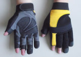 Industrial Leather Mechanical Gloves for Heavy Duty