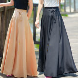 Bohemia Style Slim Waist Full Skirt with Ribbon