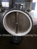 Manual Operated Wafer Butterfly Valve with PTFE Seat