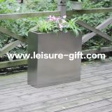 Fo-9033 Ectangular Stainless Steel Garden Plant Pot Container