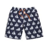 Full Sailing Pattern Printed Mens Beach Shorts for Sale