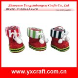 Christmas Decoration (ZY15Y026-1-2-3) Holiday Christmas Boot Fruit Container
