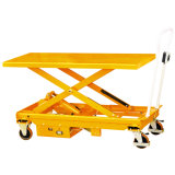 Electric Large Foot Pump Type Scissor Lift Table Cart