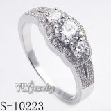 925 Silver Jewelry Women Ring Micro Pave CZ Ring (S-10223)