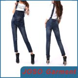 Ladies Vintage Denim Suspender Trousers (JC1106)