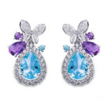 Hot Selling Imitation Zircon Copper Earrings (FQ-9085)