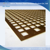 Square Hole Perforated Metal for Market Shelf