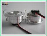 3W CREE Round LED Under Cabinet Light for Kitchen, Wardrobe or Bookcase Lighting
