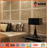 Elegant PE or PVDF Coated Aluminum Composite Carved Decorative Wall Art Plaque 4X8ft