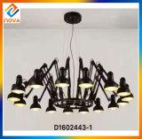 Wrought Iron Pendant Lamp Black Color Vintage Style Chandelier