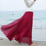 Chiffon Boho Beach Apparel Long Skirt for Holiday Skirt