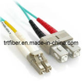Sc-LC 10g Om3 Duplex Fiber Patch Cord (fiber optic)