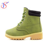 Family Fitted Kids Children Injection Safety Working Work Boots Shoes for Outdoor Job (SVWK-1609-043 GREEN)