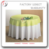 White Modern Round Vinyl Table Cloths (TC-02)