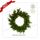 D63cm Party Supplies Plastic Decorative Christmas Wreath Glass Craft
