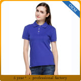 Design Women′s Blank Plain Cotton Polo T Shirts