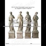 Golden Travertine Four Season Sculpture for Building Material Ms-870