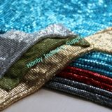 Decorative Soft Shimmer Metallic Sequin Fabric Cloth