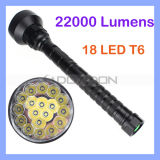 Super Power CREE Xml T6 18 LED 5 Modes 22000lm Flashlight