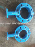 Single Flange Soft Seat Butterfly Valve with Gearbox Operator