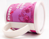 3D Soft PVC Plastic Drinking Cup with Handle (MK-1023-104)