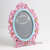 European Style Polyresin Picture Frame Ornate Oval Standing Photo Frame