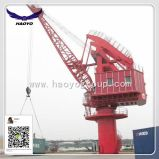 360 Degree Rotation Single Jib Portal Fixed Crane in Port for Loading