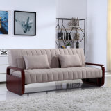 Morden Style 2 Folded Trible Fabric Sofa Bed for Living Room