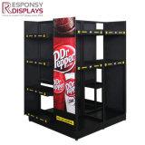 Customized Floor Metal Energy Drink Display Beverages Display Racks