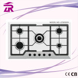 Best Quality Portable Induction Gas Hob, 5 Burner Stainless Steel Table Gas Stove, Gas Cooker