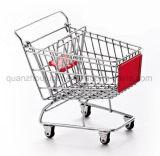 OEM Mini Metal Supermarket Shopping Trolley Cart Craft for Decoration