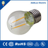 RoHS 3W-8W E27 Clear Glass Mini Global LED Filament Bulb