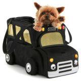 Fashion Outdoor Travel Handbag Bus Design Puppy Dog Pet Carrier Bag
