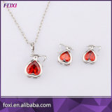 2016 Environmental Copper Fashion Cubic Zircon 18k Gold Jewelry Sets