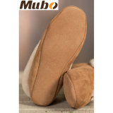 Women Comfort Double Face Soft Sheepskin Home Shoes for Winter