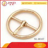 Round Reversed Center Bar Buckle for Coat Belt, Bag Decoration