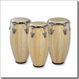 Wood Conga Drum/True Skin Cow Heads Conga Set (ACOC100NW)