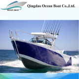 21FT Aluminum Fishing Vessel Center Cabin Fishing Boats with Hardtop