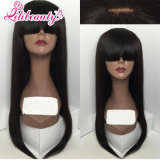 Lace Front Brazilian Human Hair Wig with Bangs