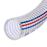 4-5/8 Inch Stainless Steel Wire Reinforced Clear PVC Suction Hose